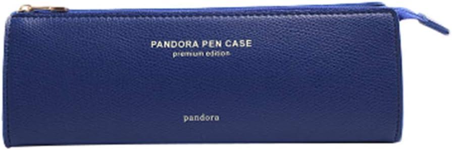 """Scrox1x """" Pandora Pen Case """" Lápiz inglés Simple Estuche de lápices de Estudiante Bolsa de Almacenamiento de artículos de papelería lápiz Pluma Lápiz Caso 20 * 6.5 * 5.5CM Cuero Artificial (Blau): Amazon.es: Hogar"""