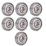 Aexit 22mmx6mm Single Bearings Row Double Shielded Deep Groove Ball Bearings Silver Bearing Housings Tone 7pcs