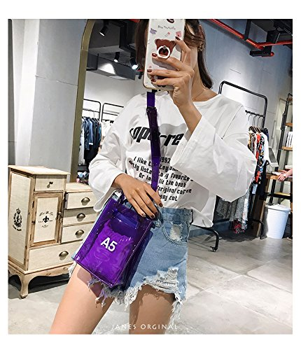 small Adjustable For Crossbody Approved Nfl Inner Handbag Women Purse Bag Shoulder Strap Messenger Purple With Stadium Clear aqfvq
