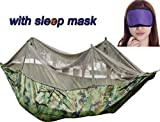 Warmword Camping Hammock with Mosquito Net Tent with Sleep Mask