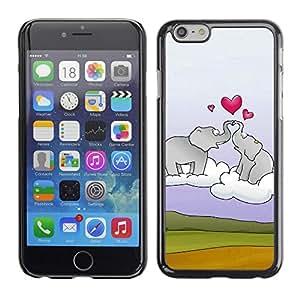 """For Apple Iphone 6 Plus / 6S Plus ( 5.5 ) , S-type Elefante y el corazón"""" - Arte & diseño plástico duro Fundas Cover Cubre Hard Case Cover"""