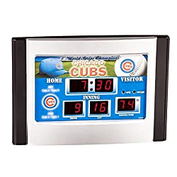 Team Sports America MLB Chicago Cubs Scoreboard Desk Clock