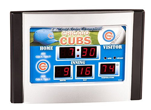 Clock Scoreboard Mlb (Team Sports America MLB Chicago Cubs Scoreboard Desk Clock)