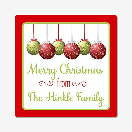 40 Personalized Square Christmas Gift Stickers - Self-Adhesive Christmas Gift Stickers - Personalized Stickers Christmas