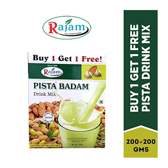 Rajam Pista Badam Drink Mix 200G Box (Buy 1 Get 1 Free)