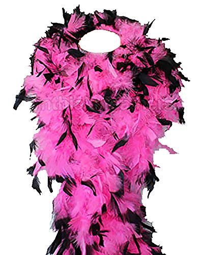 Cynthia's Feathers 80g Chandelle Feather Boa (Hot Pink/Black -