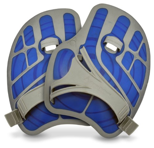Paddles Hand Swimming - Aqua Sphere Ergoflex Hand Paddles (Blue)