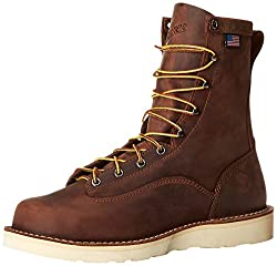 Danner Men's Bull Run 8-Inch BRO Steel Toe Cristy Work Boot,Brown,7 D US