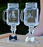 Personalized Wine Glass - Custom Engraved Wine Glass - Custom Toasting Flutes - Mr and Mrs Wine Glass - Wedding Flutes - Personalized Wine Glasses