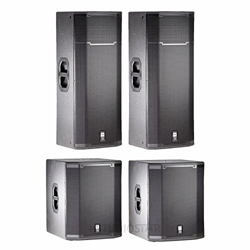 JBL PRX425 15' Passive Two-Way Speakers (PAIR) with JBL PRX-418S Subwoofers (PAIR) Pa Package System from JBL
