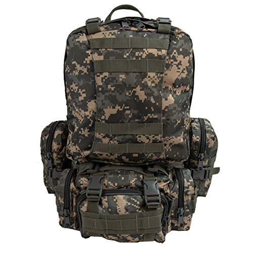 Military Tactical Army Large Backpack Hunting Hiking Camping Trekking Fishing Outdoor Sports Work Daypack BS016 (ACU) from Saratoga Outdoor Equipment & Apparel Company