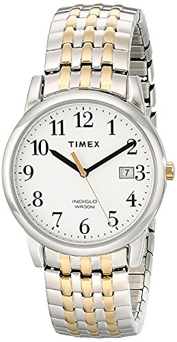 Timex Men's T2P295 Easy Reader Dress Two-Tone Stainless Steel Expansion Band Watch