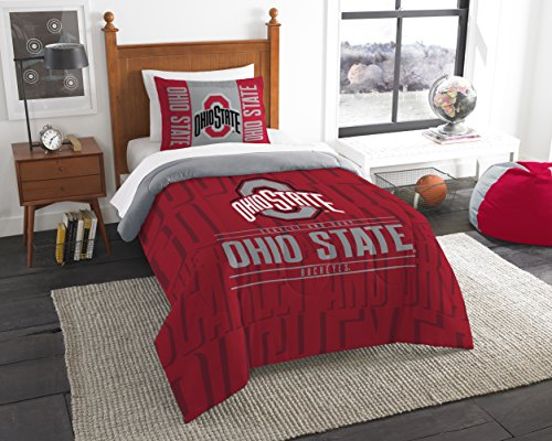 The Northwest Company Officially Licensed NCAA Ohio State Buckeyes Modern Take Twin Comforter and Sham ()