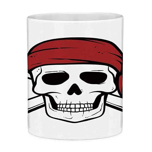Sin plomo Taza de café de cerámica Taza de té Pirata blanco 11 ...