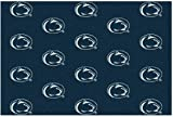 8'x10' PENN STATE - Milliken NCAA College Sports Team Repeat Logo 100% Nylon Pile Fiber Broadloom Custom Area Rug Carpet with Premium Bound Edges