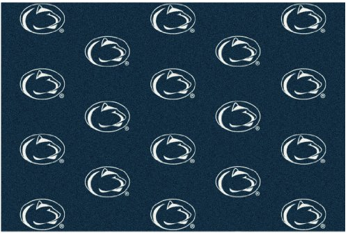 8'x10' PENN STATE - Milliken NCAA College Sports Team Repeat Logo 100% Nylon Pile Fiber Broadloom Custom Area Rug Carpet with Premium Bound Edges by Koeckritz