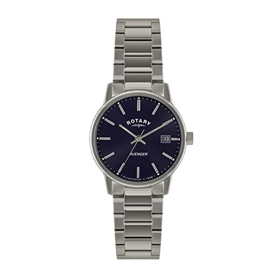 731b785a0f26 Image Unavailable. Image not available for. Colour  Rotary Avenger Men s  Blue Dial Analogue Stainless Steel Watch GB02874 05