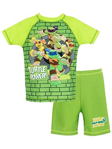 [Teenage Mutant Ninja Turtles Boys' Ninja Turtles Two Piece Swim Set 5] (Ninja Turtle Suits)