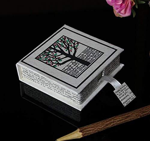 Paper Slip Storage Box Handmade Card Holder Slip Pad Tree of Life Motif Box Office Stationery School Accessories