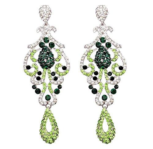 Large Pageant Austrian Crystal Rhinestone Chandelier Dangle Earrings Prom E2090 (Prom Crystal Rhinestone)