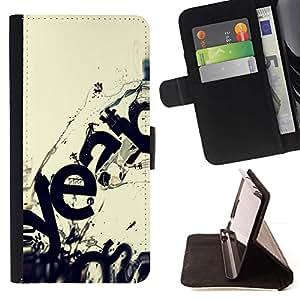 Momo Phone Case / Flip Funda de Cuero Case Cover - Moderno Ecosistema Arte Wave Destrucción - Samsung ALPHA G850