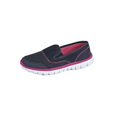 New Womens Ladies Casual Go Walking Trainer slip On lightweight Leasure  Twin Gusset Shoe In Sizes