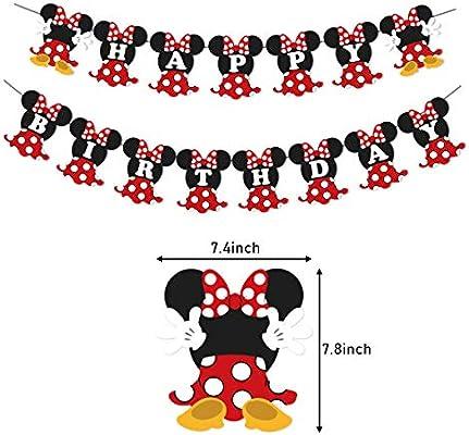 Amazon.com: Minnie Mouse - Pancarta para fiestas de ...
