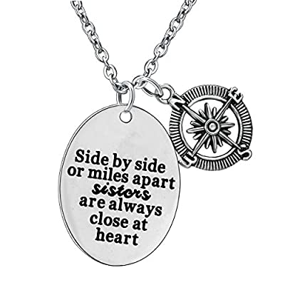 Best Friends Sister Necklace Friendship Gifts, Stainless Steel Pendant Necklace