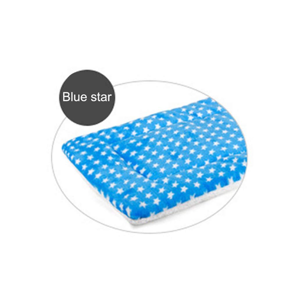 bluee CZHCFF Collapsible pet dog blanket soft cotton pad multicolor puppy mat winter warm cat dog sleeping pet supplies
