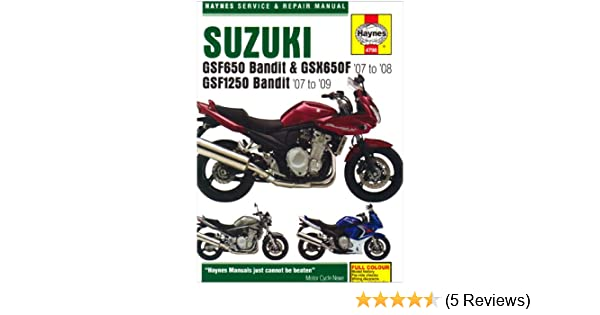Suzuki gsf6501250 bandit and gsx650fservice and repair manual 2007 suzuki gsf6501250 bandit and gsx650fservice and repair manual 2007 to 2009 haynes service and repair manuals phil mather 9781844257980 amazon fandeluxe Choice Image