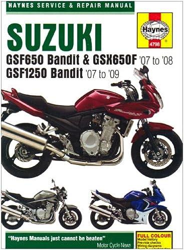 suzuki gsf650 1250 bandit and gsx650fservice and repair manual 2007 rh amazon com Suzuki VS800 Manual Suzuki RM 125 Repair Manual