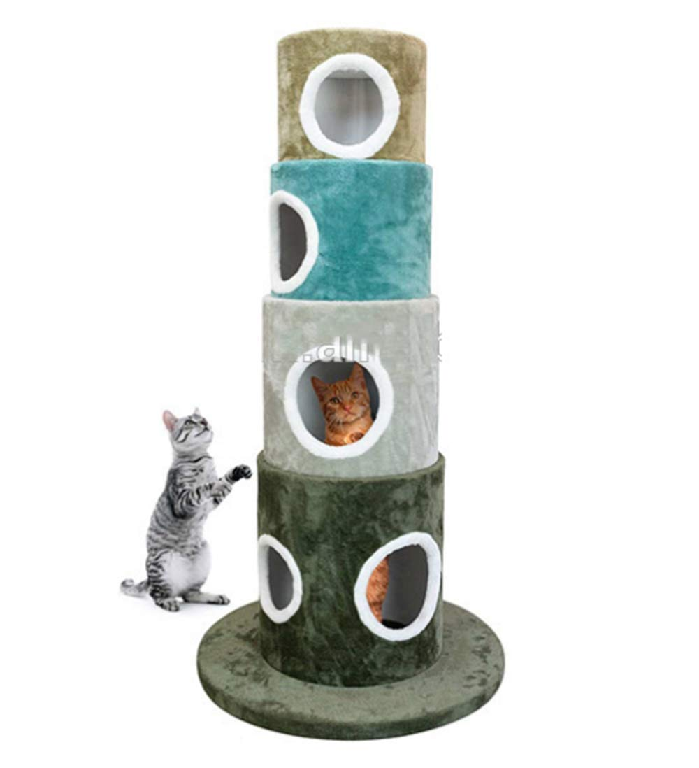 Zhangm Pet Club Cat Tree-Big Cat Nido Cat Climbing Frame-sisal Cat Tree-graffiare Gatto Resistente pilastro-Cat Toy Forniture