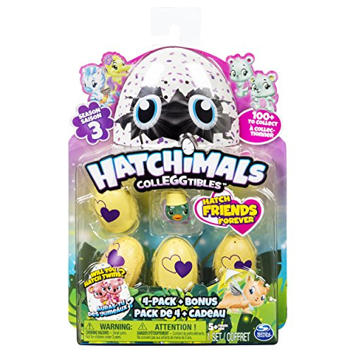 Hatchimals Colleggtibles Season 3   4 Pack   Bonus  Styles   Colors May Vary  By Spin Master