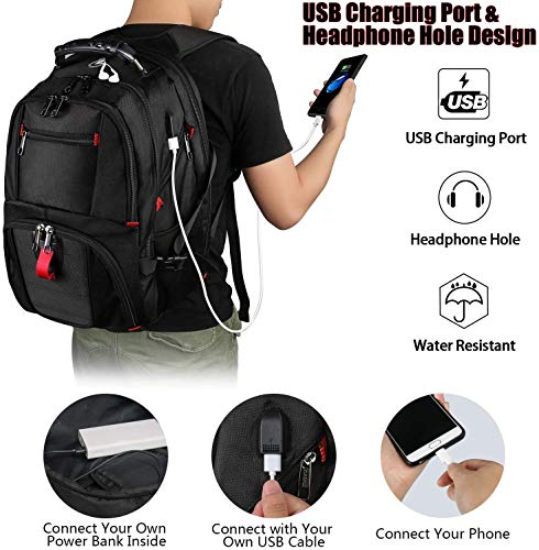 Backpacks for Men, Extra Large Travel Laptop Backpack Gifts for Women Men with USB Charging Port,TSA Friendly Business… 3