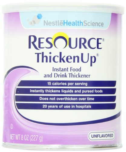Resource ThickenUp, Instant Food and Drink Thickener, 8-Ounce Canisters (Pack of 12)