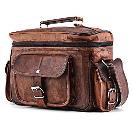 A.P. Donovan – Handmade leather camera bag made of genuine leather with straps for hanging
