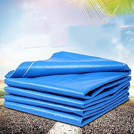 Tamaño : 3 * 4m ZQZP Al Aire Libre Azul Y Blanco A Prueba De Polvo Cubierta De Lona A Prueba De Lluvia Tela A Prueba De Agua Aislamiento Térmico Sombrilla Tela De Plástico Crepe 140 G M2