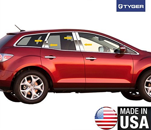 Made In USA Works With 2007-2017 Mazda CX7 8PC W//Diagonal And Triangle Piece Pillar Post