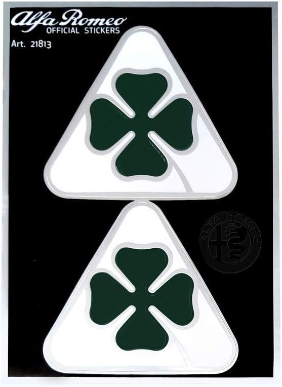 94 x 131 mm Alfa Romeo 21813 Adesivi Ufficiali 2 Quadrifoglio Verde