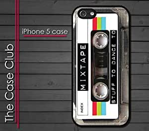 iPhone 5 Rubber Silicone Case - 80's retro Mix Tape cassette tape mixed tape