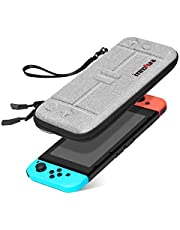 Case for Nintendo Switch - innoAura Portable HardShell Slim Travel Carrying Case fit Switch Console & 8 Game Catridges Accessories