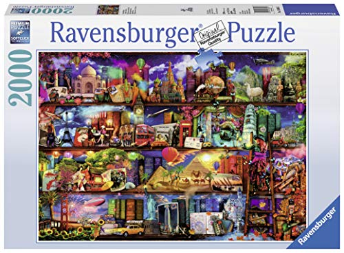 Ravensburger World of Books Puzzle 2000 Piece Jigsaw Puzzle for Adults - Softclick Technology Means Pieces Fit Together Perfectly