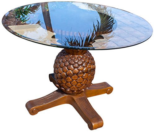 Hospitality Rattan 401-3365-TCA Cancun Palm Indoor Rattan & Wicker Pineapple Dining Table