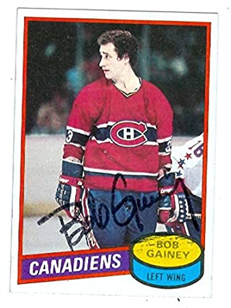 info for 4824f a59b0 Bob Gainey autographed Hockey Card (Montreal Canadiens ...