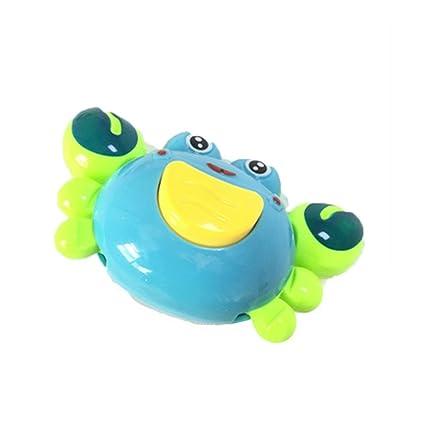 Juguetes para el baño del bebé Niño Lindo Cangrejo Animales Cadena de baño de Agua Flotante