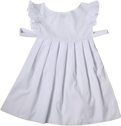 Las niñas Color Blanco algodón Delantal Disfraz – Pioneer, Pilgrim, Campesino: Amazon.es: Ropa y accesorios
