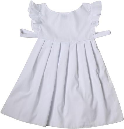 Las niñas Color Blanco algodón Delantal Disfraz – Pioneer, Pilgrim ...
