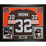 5381546c889 Jim Brown Autographed Brown Cleveland Browns Jersey - Beautifully Matted  and.