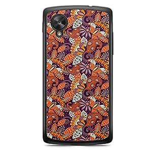 Paisley 1 Nexus 5 Transparent Edge Case - Colorful Paisley Collection
