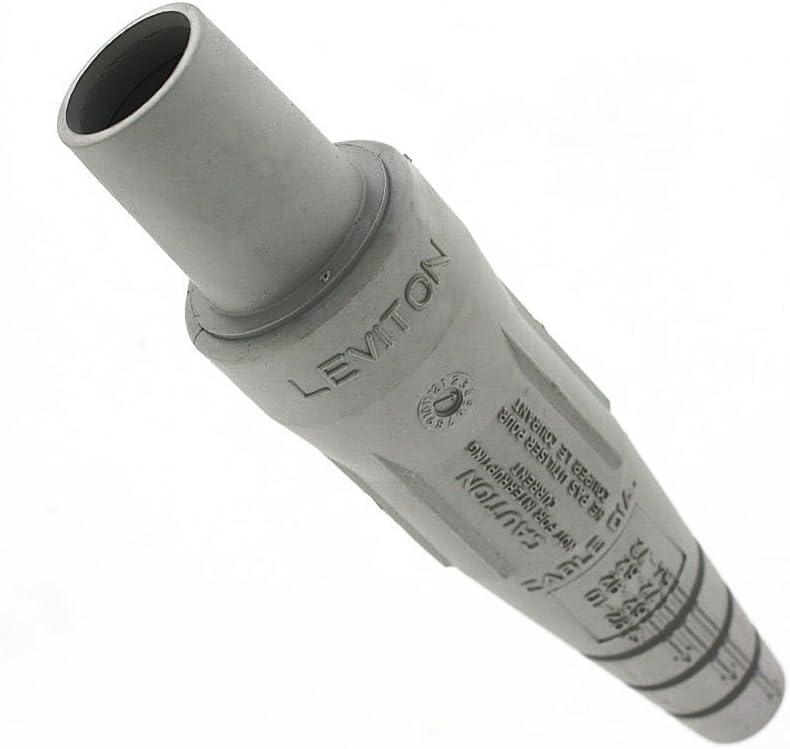Contact Brass Double Set Screw Termination Leviton 16D33-UC 16-Series Taper Nose Female Plug